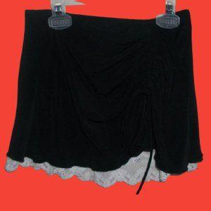 Black Skirt w Lace Girl XL